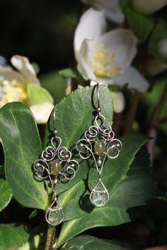 Jade Earrings by designbyeSKay on Etsy
