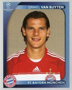 FC BAYERN MUNICH - Daniel Van Buyten 151 PANINI Champions League 2008 2009 Football Sticker