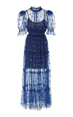 Cowboy Tears Flocked Tulle Midi Dress by Alice McCall Off The Shoulder Playsuit, Alice Mccall, Lace Midi Dress, Dress Cuts, Victoria Beckham, Tulle, Style Inspiration, Crop Tops, Women