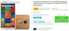 """Motorola Moto X 2ª Geração Bambu Android 4.4 Tela 5.2"""" 32GB 4G Wi-Fi Câmera 13MP GPS << R$ 107910 em 10 vezes >>"""