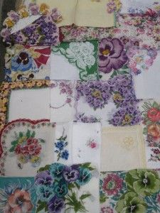 Pansy hanky collection of Toni Dokter