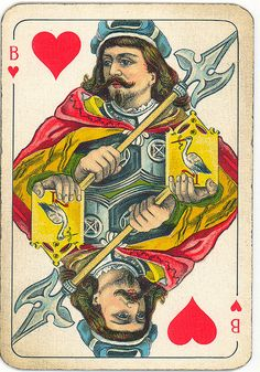 Dutch playing cards from 1920-1927: Jack of Hearts by Michiel2005, via Flickr