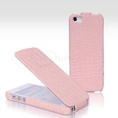Cute Pink BROFONE Case for iPhone 5 with Genuine Leather Cover...need to have once I get an IPhone 5