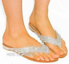 Flip Flop Women of Brazil On the Beach Beach Wedding Shoes, Beach Shoes, Flip Flop Sandals, Women's Shoes Sandals, Flip Flops, Rhinestone Sandals, Silver Sandals, Bridal Accessories, Women Accessories
