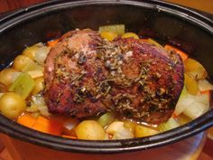 Roast in a Crockpot.  Don't forget to sear it first.  Step by Step instructions.  Hackleman's Happenings: delicious recipes