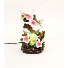 Hummingbird Flower Burner Wax Tart Oil Candle Warmer Electric Polyresin