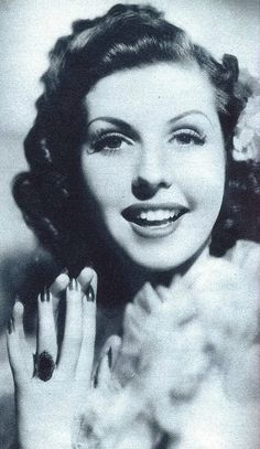 A young, gorgeous Ann Miller when she was a student at Columbia in the 30s.
