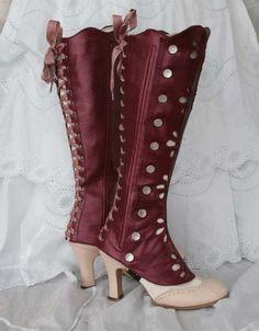 Steampunk Spats, Victorian Steampunk, Steampunk Costume, Steampunk Clothing, Steampunk Fashion, Victorian Fashion, Vintage Fashion, Gothic, Vintage Shoes