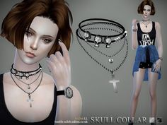 Collar 07 by S-Club LL at TSR via Sims 4 Updates