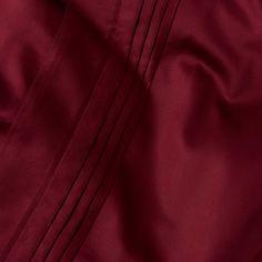 For soft, luxurious comfort while you sleep, choose the Italian made Manziana Bed Linen.  #darkred #urbanara