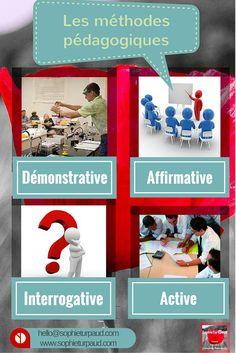 Les 4 principales méthodes pédagogiques en formation via @sophieturpaud