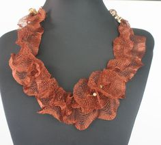 Pretty tubular Mesh necklace by NAhandmadeJewelry on Etsy, $25.00