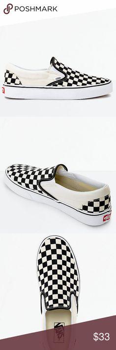 Vans Slip-On Black   White Checkered Skate Shoes New Vans Slip-On Black    White Checkered Skate Shoes Men s Sz 4 Wmn s Sz 5.5  New no box  Vans  Slip-On ... 752214467