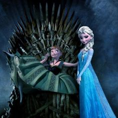Let It GoT - Frozen/Game of Thrones Mashup - Tales of a Spinster Frozen Games, Frozen Toys, Blue Bus, Movie Co, Got Game Of Thrones, T Games, Most Viral Videos, Fandom Crossover, Iron Throne