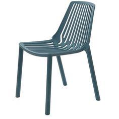 Cadeira Morgana Polipropileno Cor Verde Petroleo.      - Cadeira injetada em Polipropileno; - Detalhes vazados; - Empilhável.