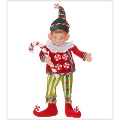 MR: Elf Ornament Green Stripe Pants