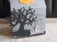 Let's Make a Card(24)How to Make a Halloween Treat Box with Baker's Box Satomi…