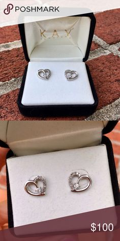 NWOT Kay Jewelers diamond earrings Received these as a gift. Retailed for $250. In perfect condition and in the original box. Would love for them to go to a great home! Diamonds are real. Kay Jewelers Jewelry Earrings