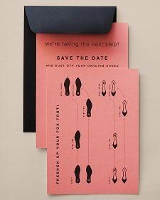 Tanzschritte als Save the date - gibt es auch als cha-cha, Walzer... die Grafiken gleich zum Herunterladen.