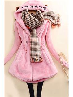 $ 46.19 Fashion Slim Solid Color Cotton Coat