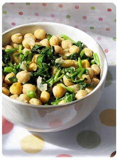 Salada de agrião e grão de bico