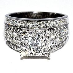 1.75ct Diamond Wedding Ring 3 in 1 style Princess cut style Round diamond Top Big Ring 14K White gold Rings-MidwestJewellery.com http://www.amazon.com/dp/B00L1H56EG/ref=cm_sw_r_pi_dp_Cgk-ub193PC2H
