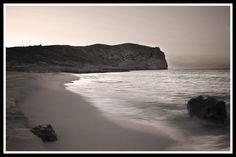 Imagen desde la playa de S'Arenalet, Arta, Mallorca.