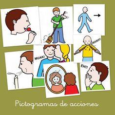 Fichas de pictogramas con acciones cotidianas - Escuela en la nube