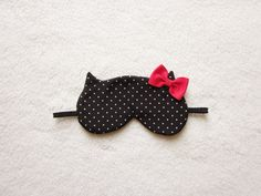 Winter Edition Red Bow Cat Mask by Naomilingerie on Etsy, $23.00