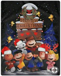Charlie Brown Snoopy & The Peanuts Gang - Merry Christmas Merry Christmas Gif, Peanuts Christmas, Charlie Brown Christmas, Charlie Brown And Snoopy, Christmas Greetings, Christmas Humor, Christmas Time, Merry Christmas Wallpaper, Christmas Thoughts