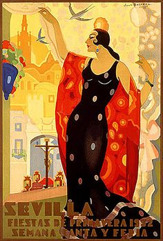 Sevilla - Fiestas de Primavera (artist: Balcera) Spain c. 1932 - Vintage Poster Acrylic Wall Art Gallery Quality), Women's, Size: 12 x 18 Acrylic Hanging Wall Decor, Multi Spanish Festivals, Old Posters, French Posters, Spanish Dancer, Spanish Woman, Flamenco Dancers, Festival Posters, Advertising Poster, Vintage Travel Posters