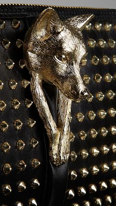 Country Animal Studded Clutch Bag | Burberry