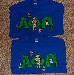 Matching Moana-APO letter shirts