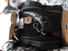 Rare new & #boxed dr martens #black aggy #strap 3 #strap ankle boots size uk 7, View more on the LINK: http://www.zeppy.io/product/gb/2/272140946421/