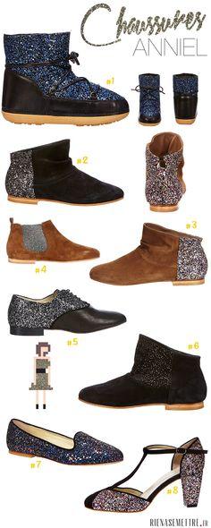 Chaussures Femme | Anniel propose des Paillettes pour vos pieds | FEMME | Conseil Mode Tendances RienASeMettre.fr