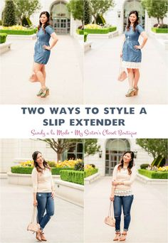 Sandy a la Mode | Fashion Blogger - Two Ways To Style A Slip Extender with My Sister's Closet Boutique