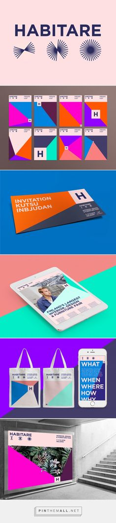 Habitare identity & branding on Behance... - a grouped images picture - Pin Them All