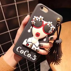 4226ab4ffda 2017 Fashion brand design Cute Korean Glasses Girl Silicone case for i