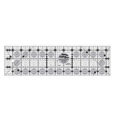 Perfect for smaller projects and cutting small fabrics. No problems reading on either light or dark fabrics. Creative Grids Quilt Ruler 3-1/2 inch x 12-1/2 inch Rectangle