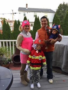 paw patrol family halloween costumes ryder skye marshal chase