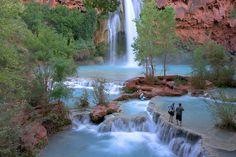 Havasu falls swimming | Havasupai Falls | Austin Lehman Adventures