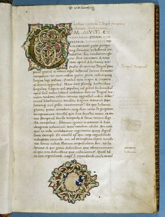 BL Harley 2741   f. 1 Decorated initial