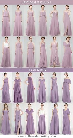 lavender blush, lavender wedding color inspiration with bridesmaid dresses#wedding #weddinginspiration #bridesmaids #bridesmaiddresses #bridalparty #maidofhonor #weddingideas #weddingcolors #tulleandchantilly
