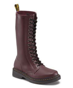 Another great find on #zulily! Matte Cherry Red Shower Leather Boot by Dr. Martens #zulilyfinds