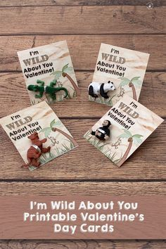I'm Wild About You Valentine printable kid's Valentine's Day card. Very cute for kids passing out at school. Valentines Gifts For Boyfriend, Valentine Day Love, Valentines Day Party, Valentines For Kids, Valentine Crafts, Valentine Ideas, Valentine Nails, Homemade Valentines, Valentine Wreath