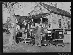 Man Who Operates Small Grocery Store And Secondhand Furniture Store In His  Home. Chanute,