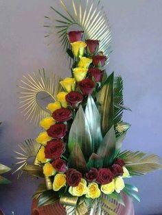 Discover thousands of images about Floral Tropical Flower Arrangements, Creative Flower Arrangements, Artificial Floral Arrangements, Church Flower Arrangements, Church Flowers, Beautiful Flower Arrangements, Unique Flowers, Flower Centerpieces, Flower Decorations