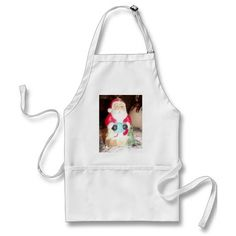 Skeezer cute Santa Claus.JPG Apron Standard Apron Whether cooking or crafting you'll keep away the stains with this medium length apron. It's got three handy pockets in front to hold all your utensils