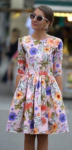 Vestido estampa flores