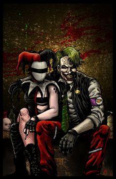 Joker and Harley by RamonVillalobos.deviantart.com on @deviantART